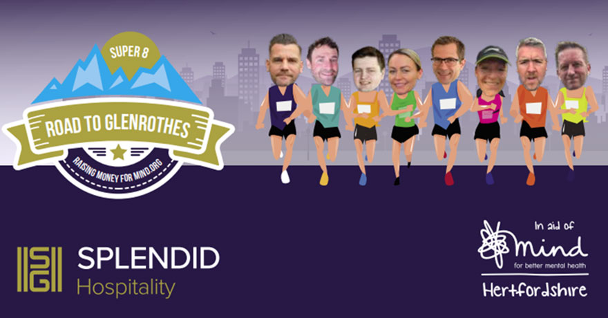 The Super Eight Run 601 Miles for Hertfordshire Mind Network
